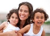 Una familia con una madre soltera