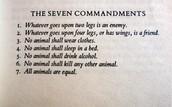 The seven commandments of Animal Farm
