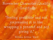 "November Character Quality ""Gratitude """