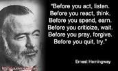 Ernest Hemingway famous quote