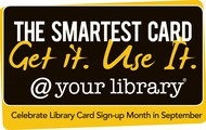 National Library Card Sign Up Month!