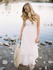Pretty Strapless Short Lace Custom Wedding Dress (2I230)