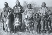 Great Basin Indian family