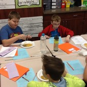 Vance is enjoying his pancake!