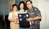 Selena with her mother and father.