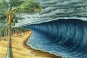 illustration of a Tsunami
