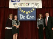 Boone welcomes our superintendent, Dr. Paul Cruz, for our Second Annual Career Days.