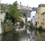 Here is another picture of a modern city in Luxembourg.
