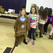 A traditional outfit worn by the Native Americans.