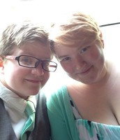 My fiancee (Laura) and I!