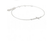 Interlock Cross Bracelet $42
