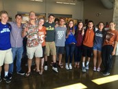 Spirit Week - Seniors show their College spirit!