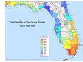 Total number of hurricane strike