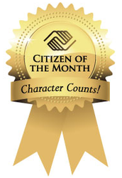 Citizen of the Month Award on 10/28