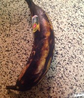 Rotten banana (decaying)
