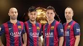 Messi, Neymar, Iniesta y Mascherano, candidatos al FIFA Balón de Oro 2014