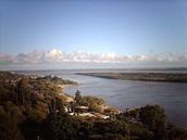 Vista del rio Parana desde las barrancas del parque Urquiza
