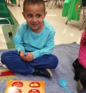 We loved reading our words and finding them on our or a friend's mat!