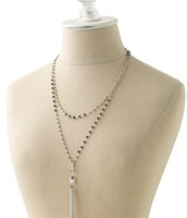 Gitane Tassel Necklace - silver