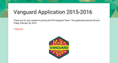 The Next Vanguard Application is LIVE!