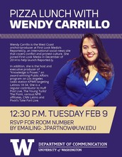 Pizza lunch with Wendy Carrillo!