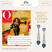 Our earrings are one of Oprah's favorite things! Only $42!