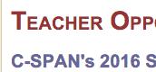 C-SPAN's 2016 Summer Educators' Conferences