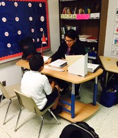 Ms. Burgos ensures that students receive help one-on-one!