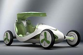 Solar powered, leaf fueled, Eco-friendly car