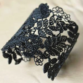 Chantilly lace cuff £85