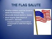 Court cases on saluting