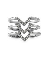 Silver pave chevron ring £25