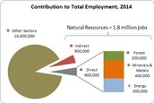 Contribution to Total Employment in 2014