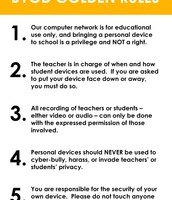 BYOD Golden Rules