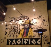 Snap: Having a Mexican beverage with the graffiti at El Cortez