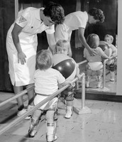 Baby with polio