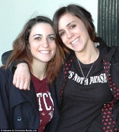 Elena and Valerie during Elena's freshman year at college