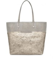 HUDSON TOTE MEDIUM - SLATE GREY PERF/BRUSHED METALLIC