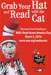 Read Across America Day March 2nd.