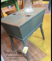 Green Gray Hinged Cabinet - $125