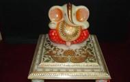 Marble choki and Ganesha