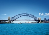 Look out the window when we drive over the Sydney Harbour Bridge!