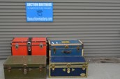 Lot of 4 Vintage Trunks