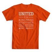 Wednesday is Unity Day- wear orange