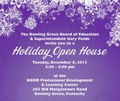 BGISD Holiday Open House