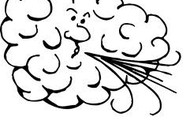 Wind blowing