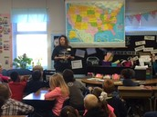 Mrs. Sandlin's class is learning about a parent's Native American culture!