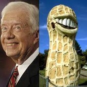 Jimmy Carter compared to a peanut