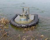 Hovercraft Model in Marsh