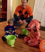 My husband and our boys on Halloween